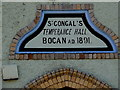 C5347 : Plaque, St. Congal's Hall by Kenneth  Allen