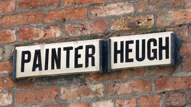 Sign for Painter Heugh, NE1