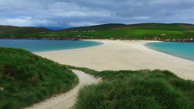 The tombolo at St Ninian's Isle