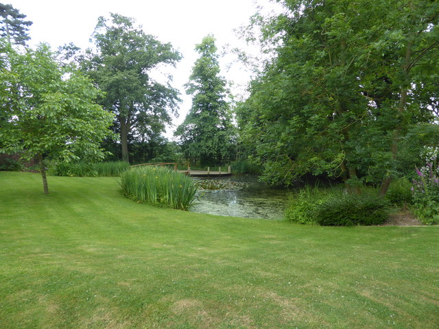 Pond in the grounds of Pontlands Park Hotel, Great Baddow, Essex