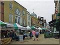 SU4829 : Street market in High Street, Winchester by Robin Drayton