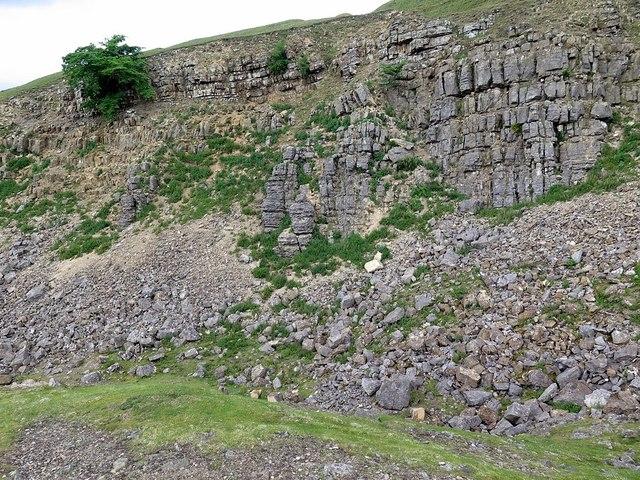 Limestone outcrop at Fell End