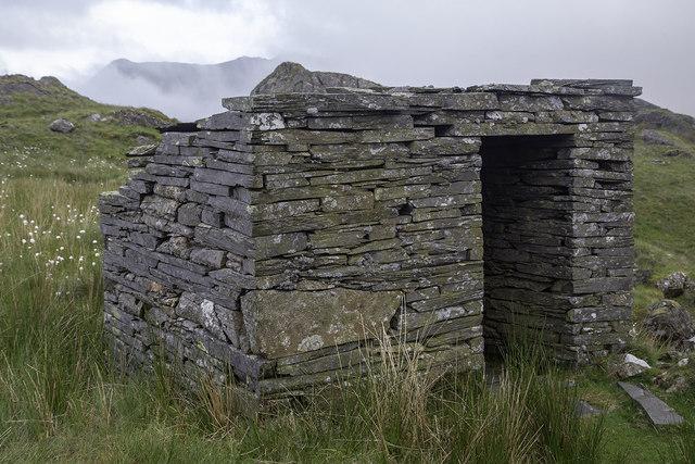 Ty bach - Toilet at Rhosydd Slate Quarry