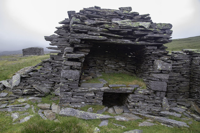 Remains of hearth at Rhosydd Quarry