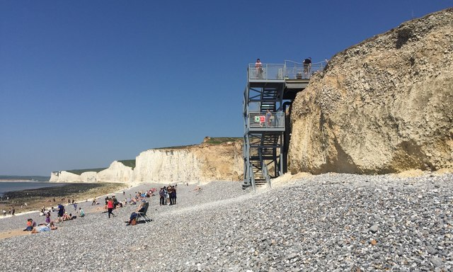 The staircase to the beach, Birling Gap