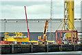 J3575 : Wind turbine parts, Harland & Wolff Belfast - June 2018(2) by Albert Bridge