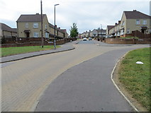 SE0726 : Grove Avenue at its junction with Grove Square and Grove Drive in Ovenden, Halifax by Peter Wood