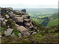 SK1287 : Rock outcrop above Grindslow Clough by Graham Hogg