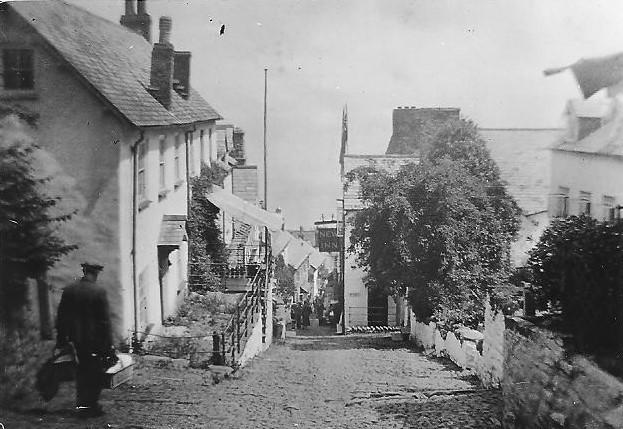 Clovelly High Street in 1935