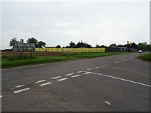 SJ4723 : Road junction and building land at Myddle by Philip Halling