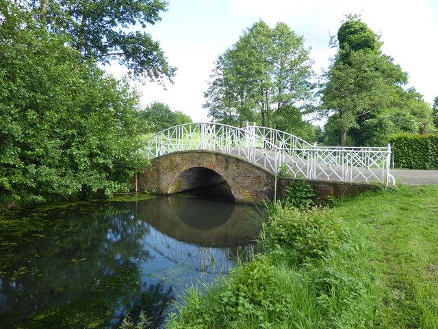 The Iron Bridge in Marks Hall Park