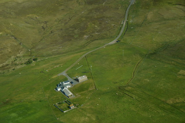 House at Roeness from the air