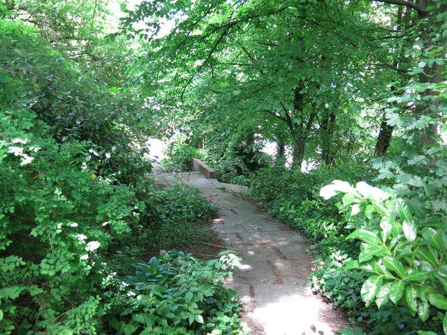 Shaded path near All Saints Church