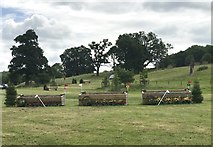 SK2014 : Cross-country fences at Catton Park by Jonathan Hutchins
