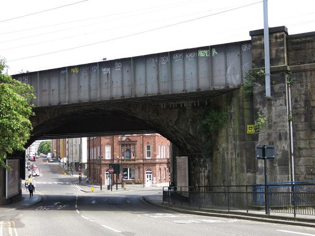Railway bridge over City Road / Melbourne Street, NE1