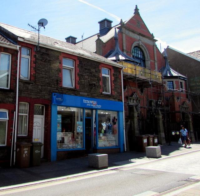 Tenovus cancer charity shop, Hanbury Road, Bargoed