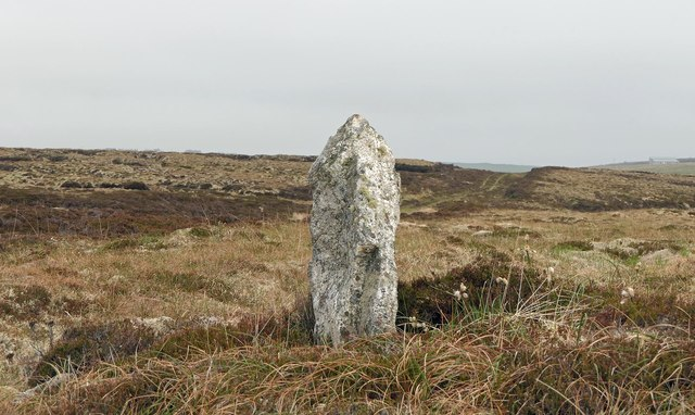 Upright stone near the Feadan Grassagro, Isle of Lewis