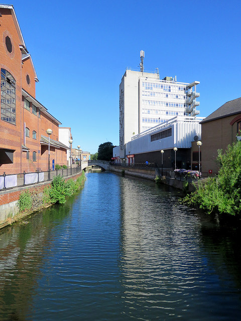 Chelmsford: reflections in the River Can