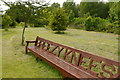 SE6756 : The Breezy Knees bench in the Arboretum, Breezy Knees Gardens by Rich Tea