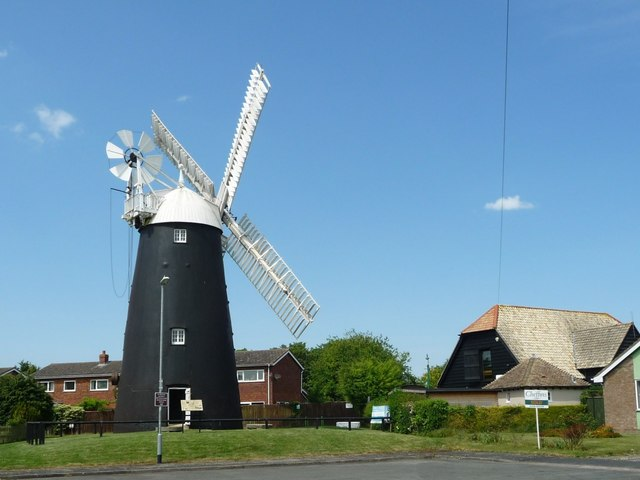 Stevens' Mill and Burwell Museum, from Mill Close