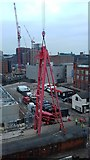 SJ8498 : Tower crane assembly, Ducie Street, Manchester by Benjamin Shaw