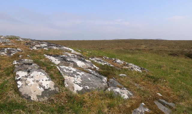Rock outcrop to the south of Loch Spealdravat Beag, Isle of Lewis