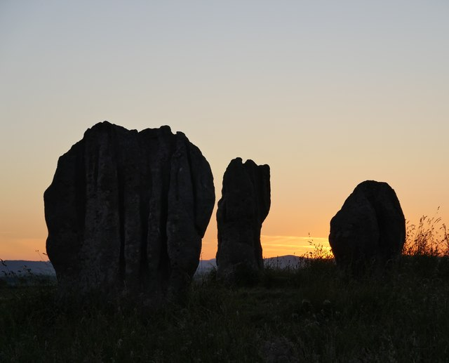 The longest day at Duddo Stone Circle: 2151 hrs BST