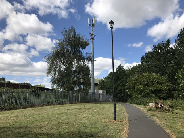 Mobile mast in Lyme Valley Park