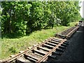TG0603 : Stored sections of track, Mid-Norfolk Railway by Christine Johnstone
