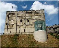 TG2308 : Norwich Castle as seen from the south by Evelyn Simak