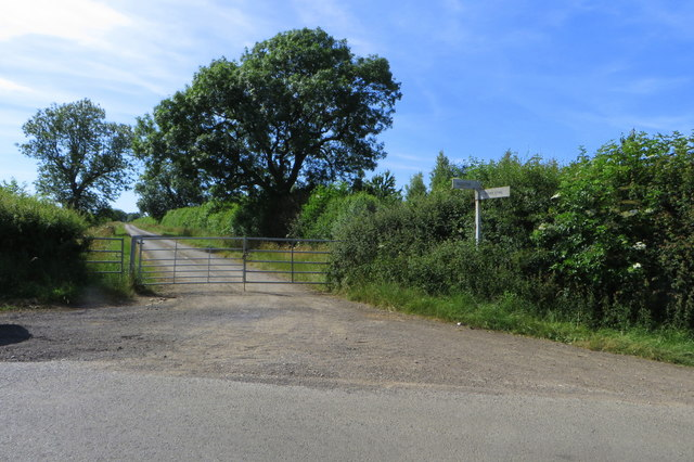 Old road to Baynards Green, now with a gate