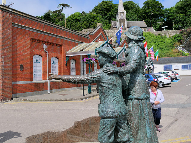 Annie Moore Statue outside Cobh Heritage Centre