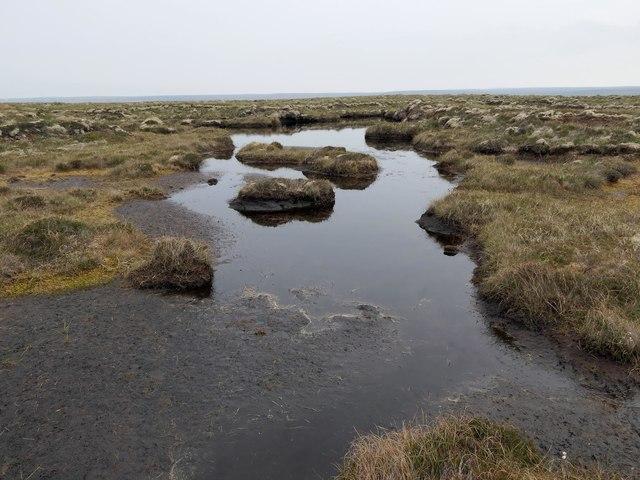 Moorland pool below Tom Aister, Isle of Lewis