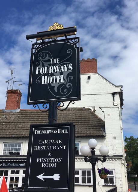 The sign of the Fourways Hotel
