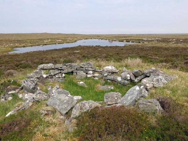 Shieling hut above Loch nan Urrannan Beaga, Isle of Lewis