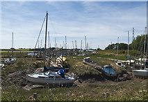 SD3642 : Yachts moored at Wardley's Pool by Ian Greig