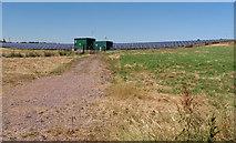 ST0209 : Willand: solar farm above Five Bridges by Martin Bodman