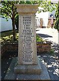 ST0310 : Willand: war memorial - 3 by Martin Bodman