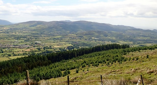 View towards the Cooley Mountains across the southern section of the Plain of Meigh