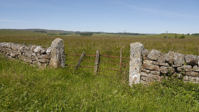 Stone gateposts, Monkridge