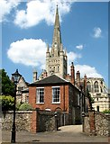TG2308 : The Deanery as seen from the Lower Close by Evelyn Simak
