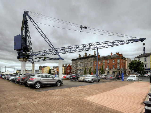 Crane at Meagher's Quay Car Park, Waterford