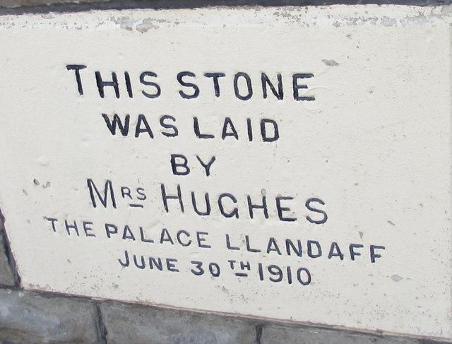 St Gwladys Church Hall foundation stone, Church Place, Bargoed
