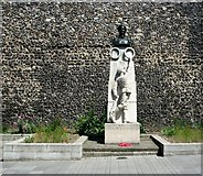 TG2308 : The Edith Cavell memorial at Tombland by Evelyn Simak