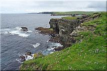 HY2328 : Cliffs and Skerries by Anne Burgess