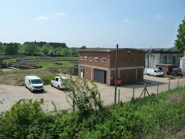 Offices and garages, Wymondham sewage treatment works