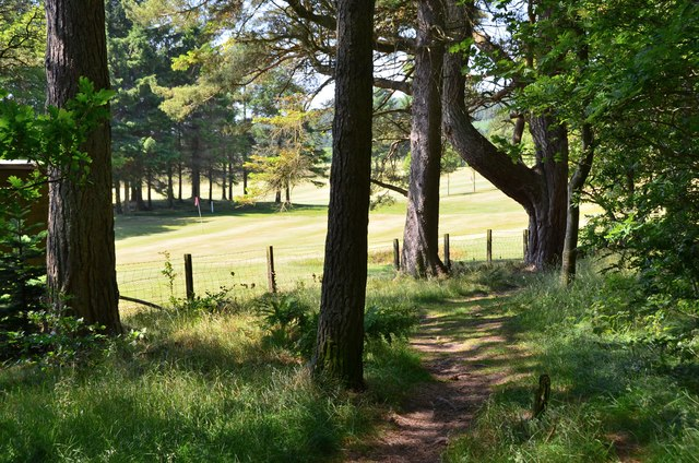 Path by the golf course, West Linton
