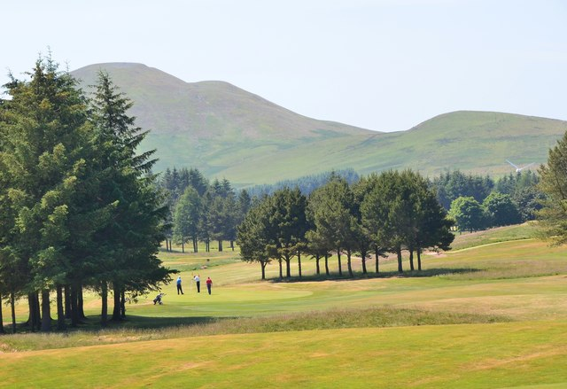 West Linton golf course and Mendick Hill