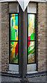 NZ2665 : Stained glass, St Theresa's Catholic Church, Heaton by Julian Osley
