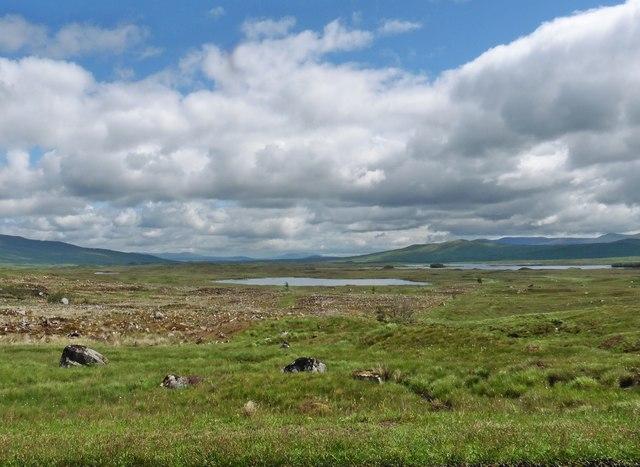 Lochs on Rannoch Moor